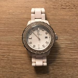 White Crystal Toy Watch